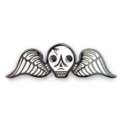 Ars Moriendi Cemetery Angel Enamel Pin