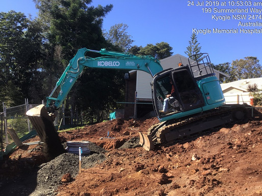 Woollam Constructions Main Earthworks at Kyogle Aged Care Facility Upgrade
