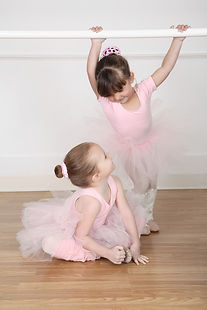 Beautiful little ballet dancers at the d