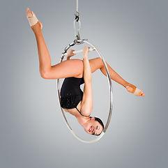 Plastic beautiful girl gymnast on acroba