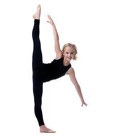 Image of flexible little girl doing vert