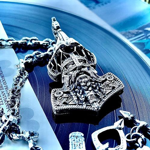 Metal Urgency - The Mjölnir Pendent in 925 silver/large