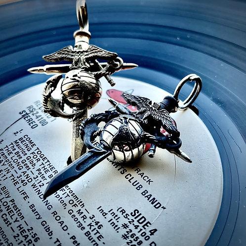 Metal Urgency - Marine Corps Cross – Small/ 925 silver