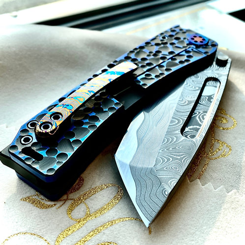 Medford Knife and Tool - Full size Marauder with Chad Nichols Damascus blade