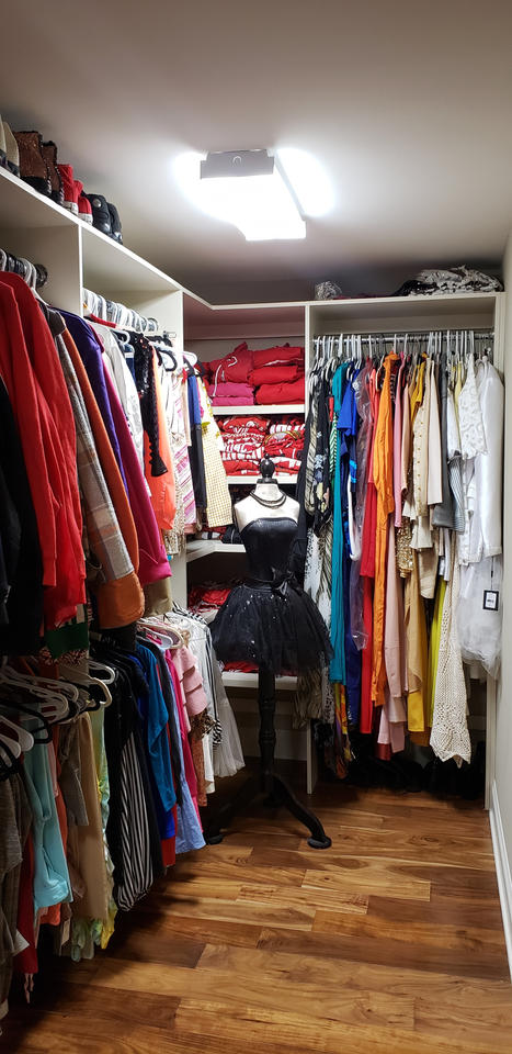 Walk-in Closet Basement