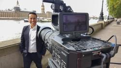 Filming for RTVE News España with reporter Juan Castro De Jong