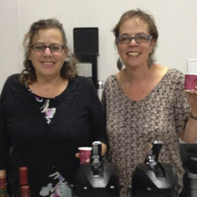 Ruby's Roast Coffee co-owners Debbie and Sherry