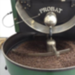 Ruby's roasting produces small batches of high quality coffee beans