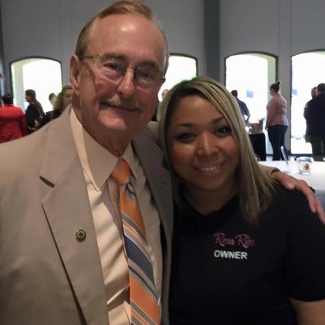 Rosa Rios with the League City Mayor
