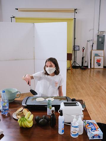 birch benders, pancakes, photoshoot, bananas, avocado, studio