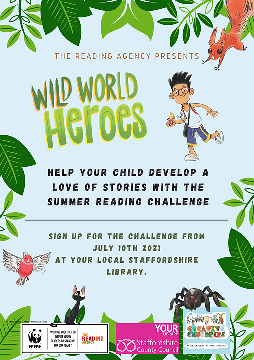 Generic Poster - Staffordshire Libraries - Summer Reading challenge - Wild World Heroes (0