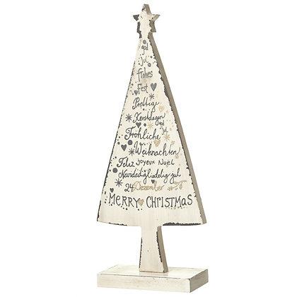 Wooden Cream Christmas Tree