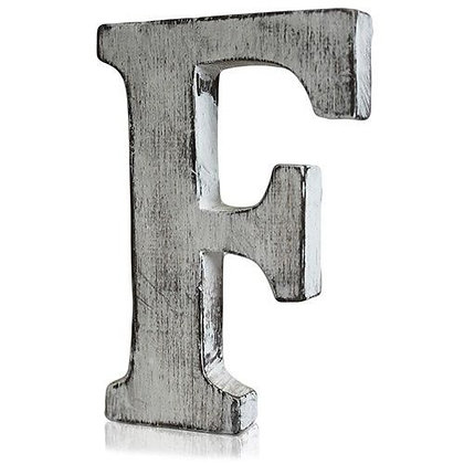 F Shabby Chic Letter