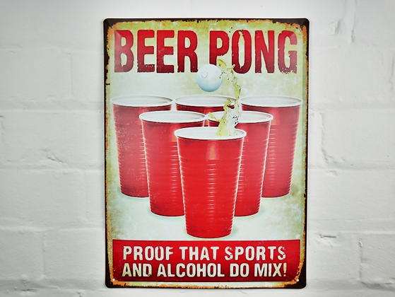 Beer Pong Sign