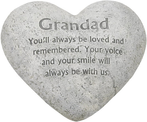 Heart Graveside Memorial Ornaments for Grandad