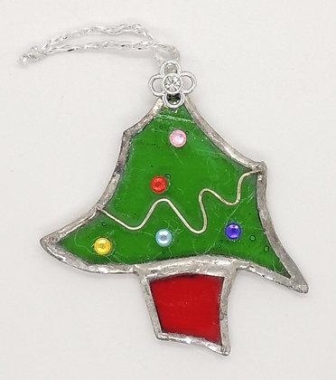 Glass Christmas Tree Decoration