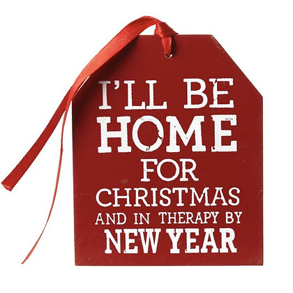 I'll Be Home for Christmas and in Therapy by New Year