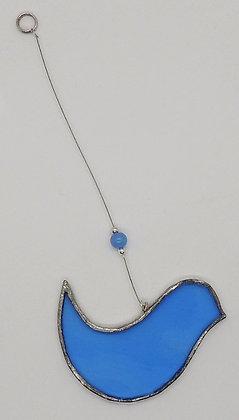 Pale Blue Hanging Bird