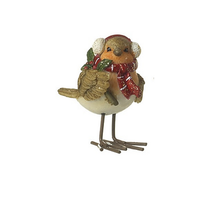 Standing Robin with Earmuffs
