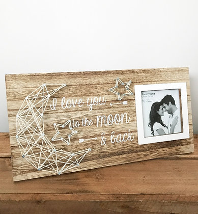 Moon & Back String Picture Frame