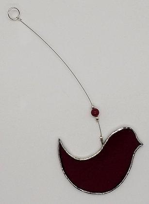 Dark Red Haning Bird