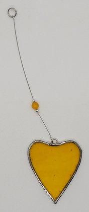Yellow Hanging Heart