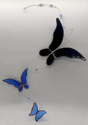 Blue Butterfly Trio Hanging
