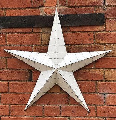 Whitewashed Metal Barn Star