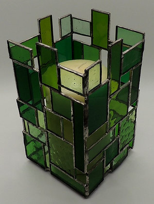 Green Rectangle Large Candle Holder