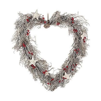 Large Decorative Heart Wreath