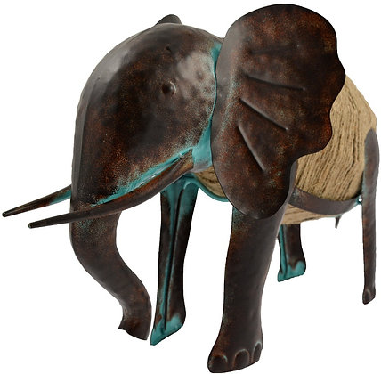 Distressed Garden Elephant Ornament