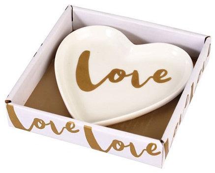 Love Heart Porcelain Trinket Dish
