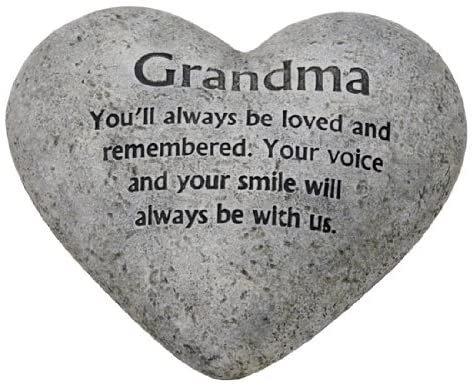 Heart Graveside Memorial for Grandma