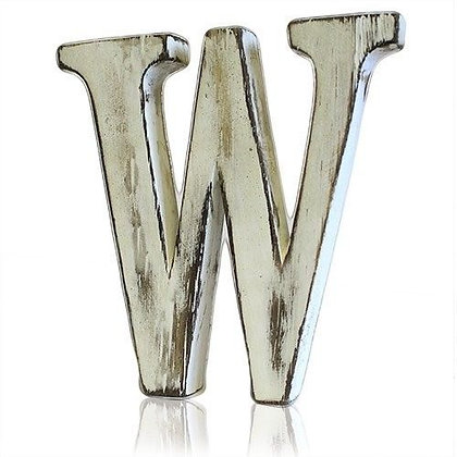 W Shabby Chic Letter