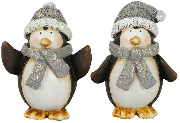 Small Grey Glittered Penguins