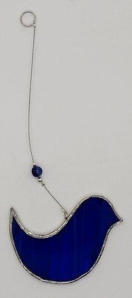 Wispy Blue Hanging Bird