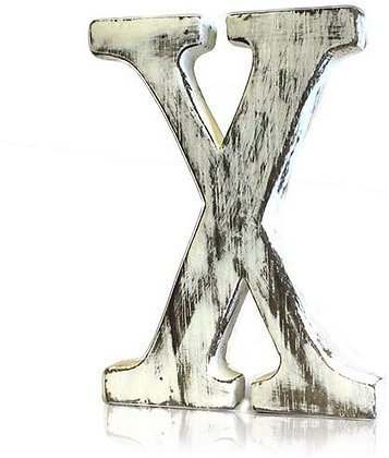 X Shabby Chic Letter