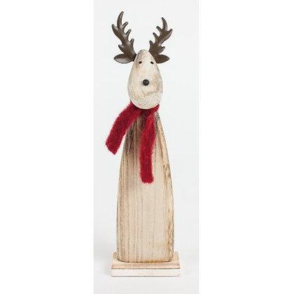 Wooden Reindeer Scarf