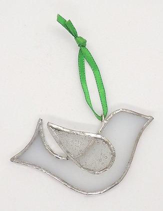 Glass Dove Decoration