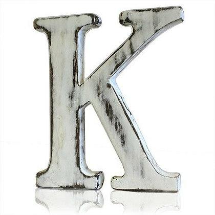 K Shabby Chic Letter
