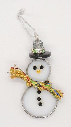 Glass Snowman Decoration