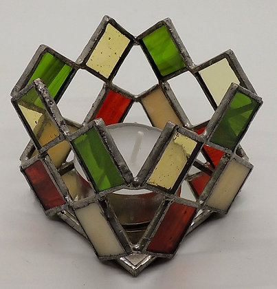 Mixed Colour Square Illusion Candle Holder