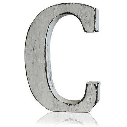 C Shabby Chic Letter