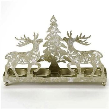 Reindeer Xmas Tree Candle Holder