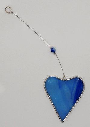Wispy Blue Hanging Heart