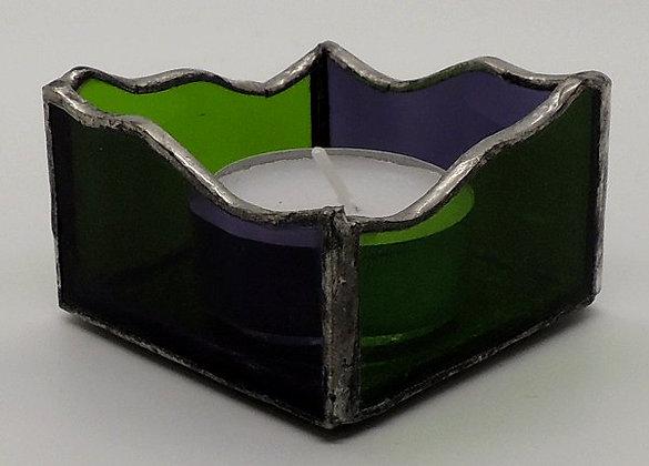 Green & Purple Tealight Holder