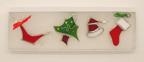 Glass Traditional Christmas Dec Set