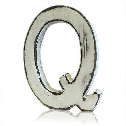 Q Shabby Chic Letter