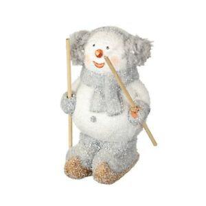 Skiing Terracotta Snowman