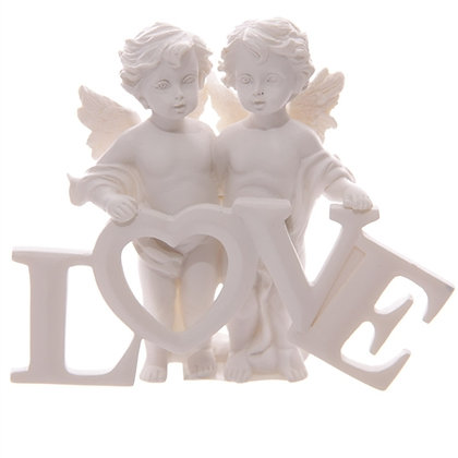 Cherub Pair with LOVE Letters